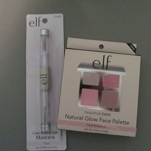 ELF Natural Glow Face Palette Plus Clear Mascara